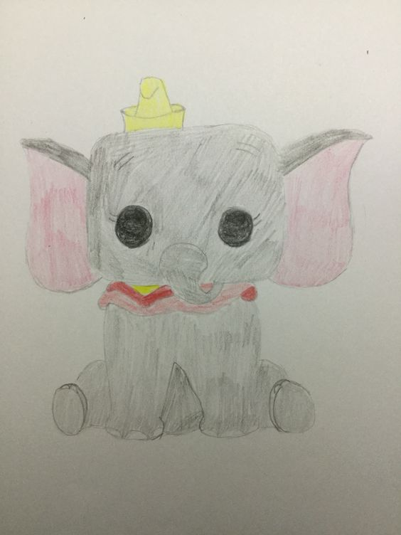 Dumbo drawn by Emily Rowley