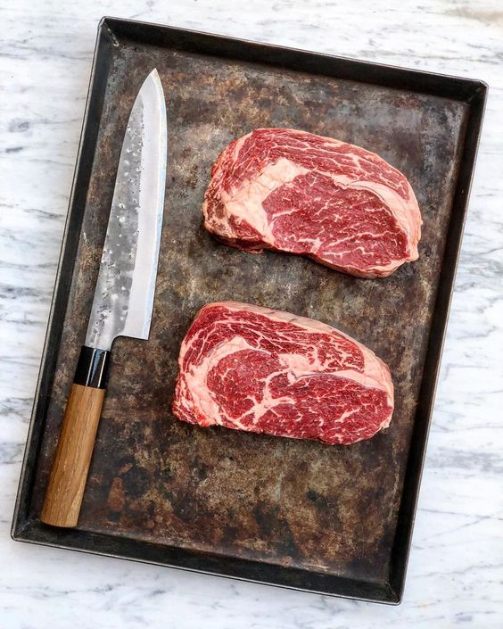 As Good As It Gets The Ribeye From Ocean Beef Has Been Sold Out For A While Now It S Back And You Can Order It Farskvaruhallensthlm Meat Shop Meat Ribeye
