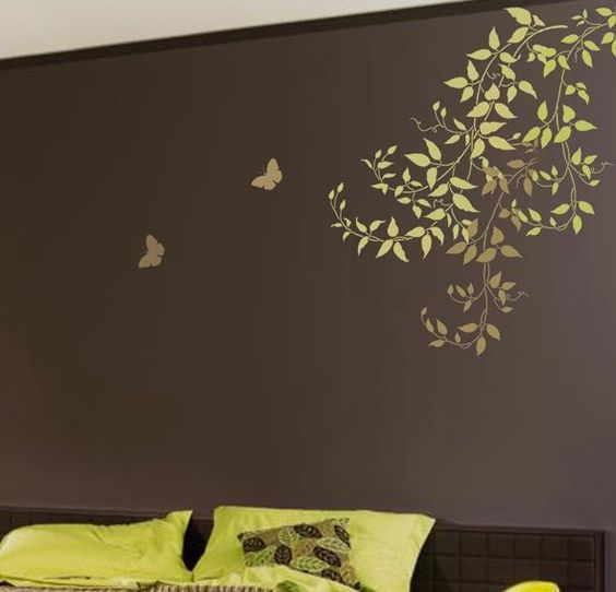 wall stencils budding clematis vines beautiful wall designs by cutting edge stencils by cuttingedgestencils via flickr