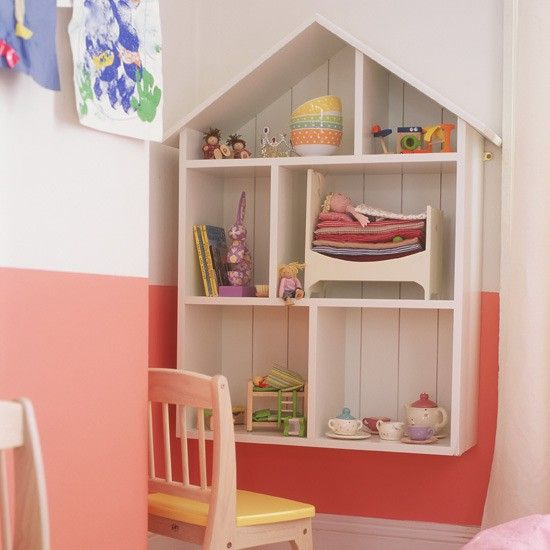 I love the shelf unit as well as the cute little 'princess and the pea' toy on the second shelf. Even MORE if you click the image!