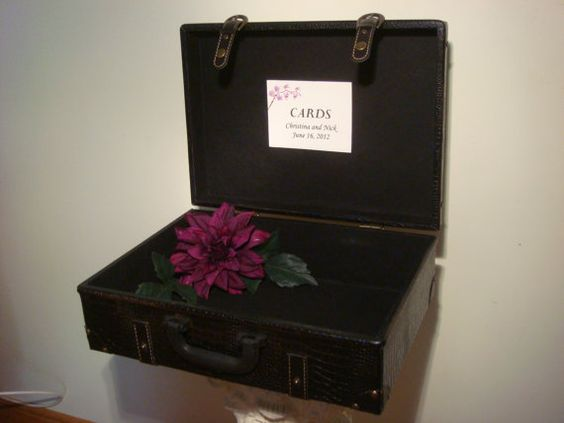 Vintage Inspired Suitcase / Trunk Wedding Card by BridalStock, $55.00