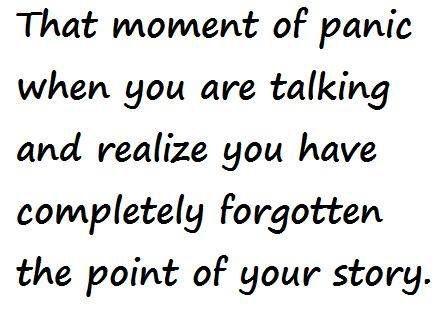 Happens to me all of the time! Ha ha ha!  Vic xx