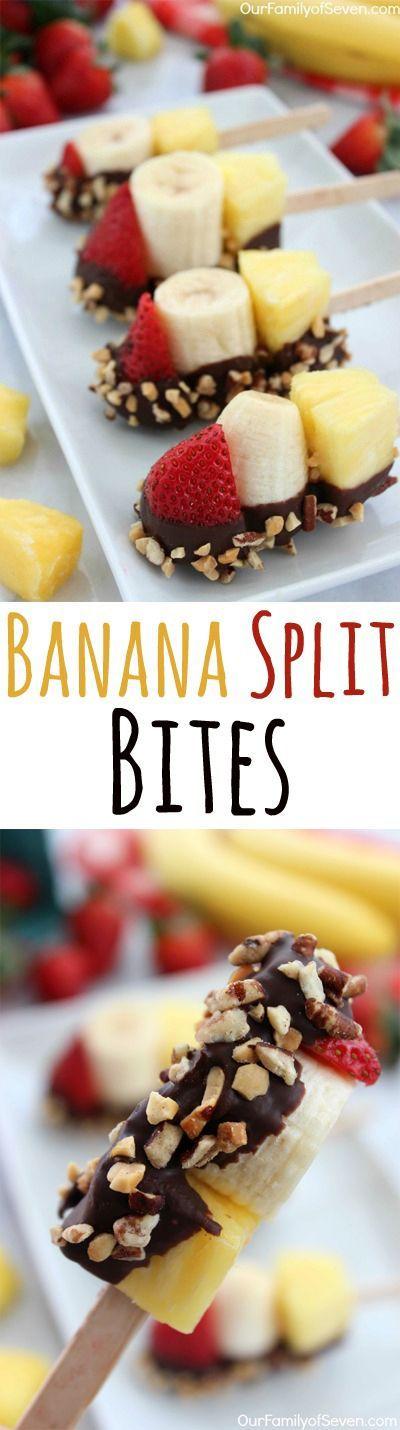 Entertaining Ideas: Banana Split Bites- a fun and simple twist on your favorite summer treat.