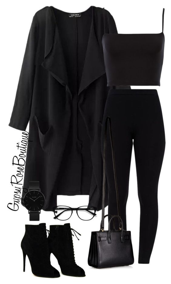 """#476"" by gypsyroseboutique on Polyvore featuring Tom Ford, Yves Saint Laurent, CLUSE and EyeBuyDirect.com"