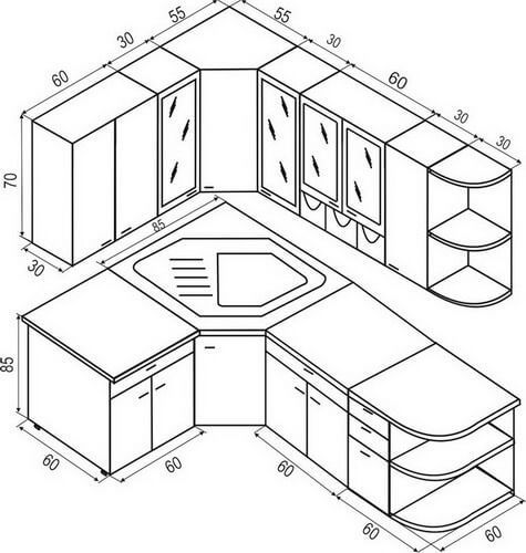 Standard Kitchen Dimensions And Layout Diseno Muebles De Cocina