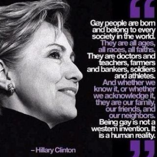 Gay Quote by Hilary Clinton