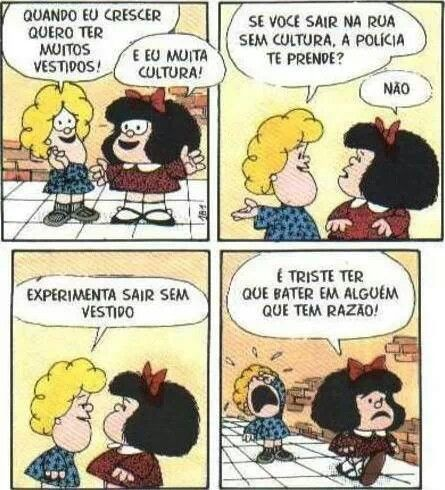 Mafalda - Tirinhas: