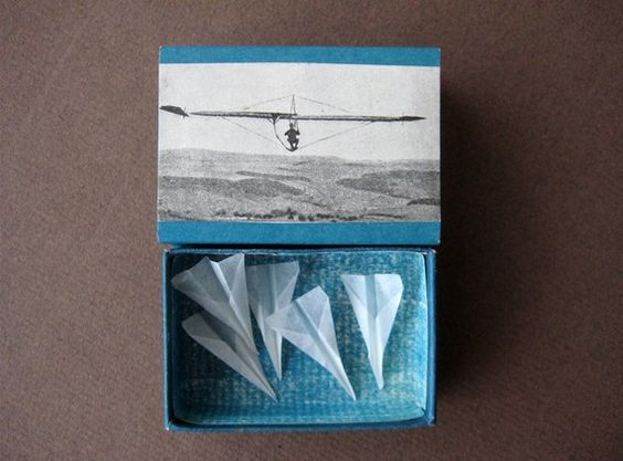 need airplane box, luv idea   matchbox art by paperiaarre via etsy #art #paper #ephemera