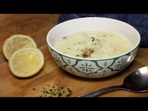 Griechische Zitronensuppe (Avgolemono)