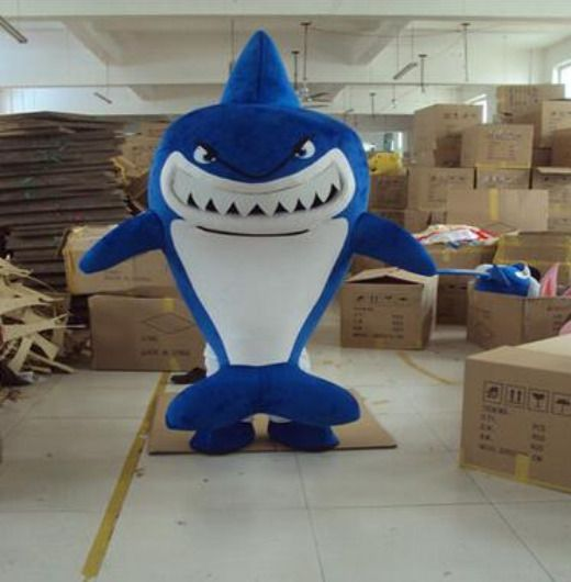 Ocean Shark Mascot Costume Suit Cosplay Party Game Dress Outfit Halloween Adults