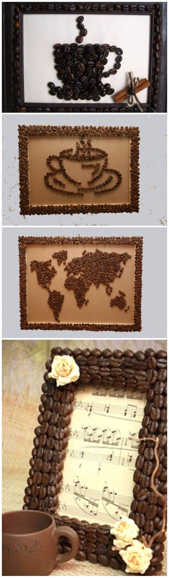 Create art out of coffee beans as fundraiser for Colombia volunteer trip.