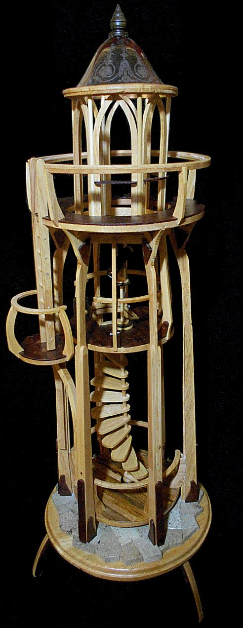 The Light house of Nevermoore. A twenty four inch sculpture , by William VanDorin of Loud Silence Studio.