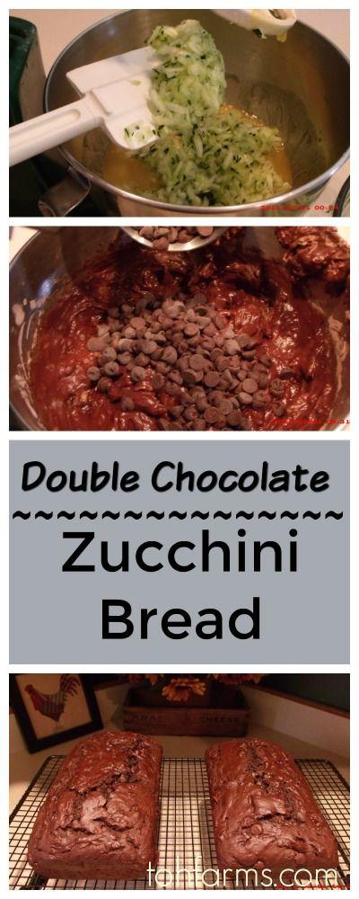 Chocolate zucchini bread, Zucchini and Breads on Pinterest