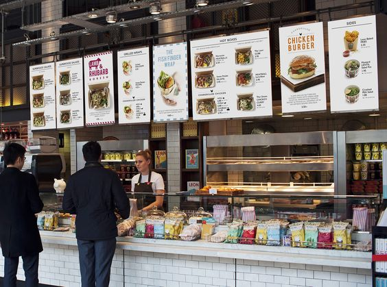 Lunch menu boards at Spitalfields