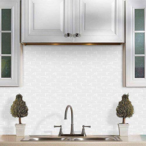Best Seller Vamos Tile Stick On Self Adhesive Wall Tiles Premium 12 X12 Peel Stick Kitchen Backsplash Tiles Pack 10 Thicker Design Online Pptoplike In 2020 Kitchen Tiles Backsplash Self Adhesive Wall