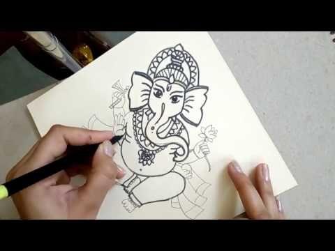 How To Draw Ganesha Easy Ganpati Bappa Moriya Easy Drawing Youtube Easy Drawings Ganesha Drawing Drawings