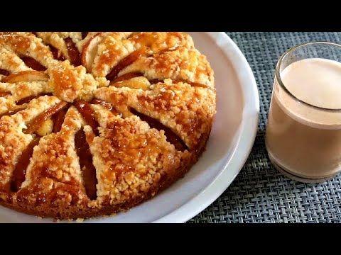 كيكة التفاح مختلفة لاتفووتكم بطبقة مقرمشة وأخرى معلكة ب1بيضة فقط Youtube Desserts Food Yummy Food