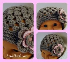 Easy Quick baby hat pattern plus there's links to other patterns:)
