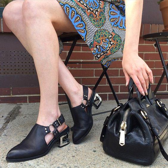 Moto mules = perfection. || Shop the Jeffrey Campbell Borel Mule: http://www.nastygal.com/brands-jeffrey-campbell/jeffrey-campbell-borel-leather-harness-mule?utm_source=pinterest&utm_medium=smm&utm_term=omg_shoes&utm_campaign=editorial
