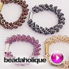 Tutorial - Videos: How to Make the Deluxe Beaded Kumihimo Bracelet Kit with Long Magatama Beads | Beadaholique