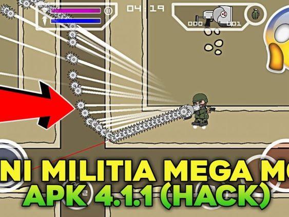 Mini Militia Mega Mod Apk 4 1 1 Wall Hack Download Hacks Mini