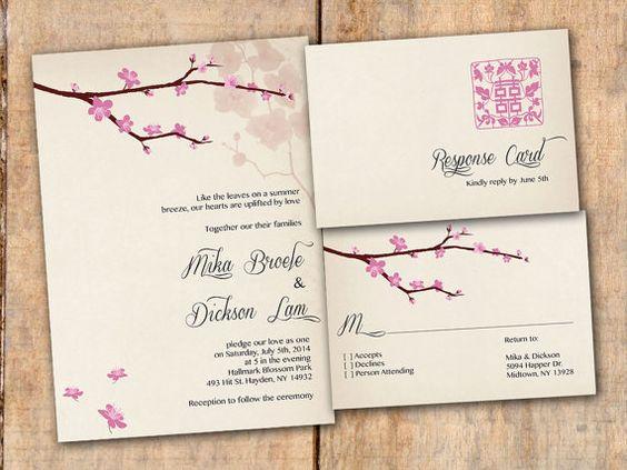 Chinese Themed Wedding Invitations: Wedding Invitation, Asian Chinese Wedding, Modern Vintage