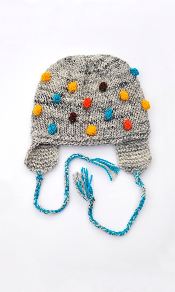 Knitted Toddlers Kids Childrens Hat,