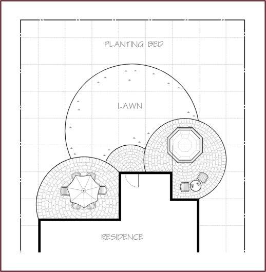 Garden Design Grid good example of a circular grid garden design. | geometric lawns