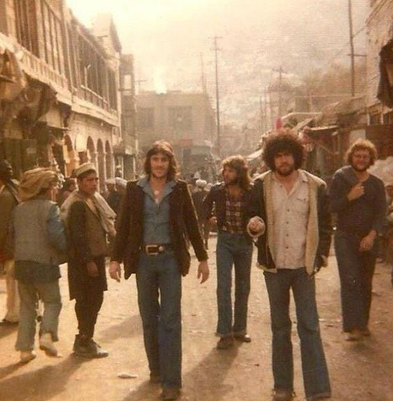 Hippies back in the 60's in Kabul.: