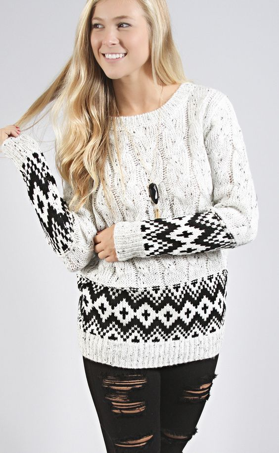 cold weather classic sweater