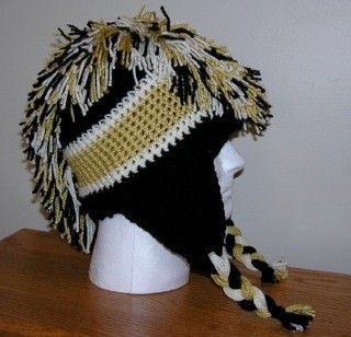 CUSTOM ORDER for Amber  Pittsburgh Penguins Hat. $18.50, via Etsy.