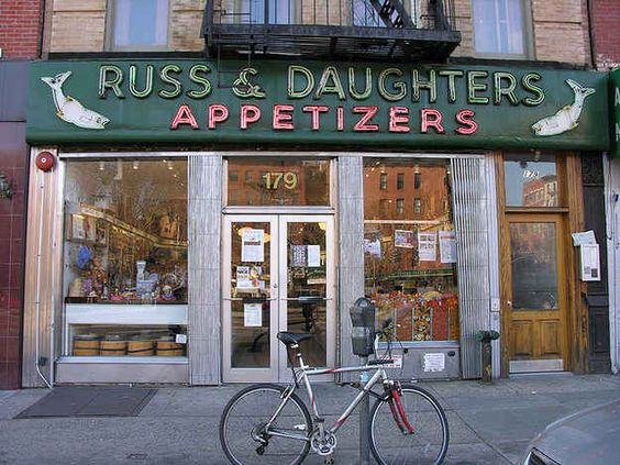 44 places in New York City that still exists. Here, Russ & Daughters, 179 East Houston St. (East Village). I've enjoyed lox and bagels from here since kneehigh to a toadstool, and its lovely that its stillthere to be enjoyed, though most other Orchard Str