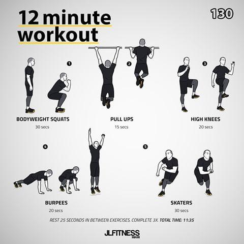 Jl Jlfitnessmiami Instagram Foto S En Video S 12 Minute Workout Bodyweight Workout Workout