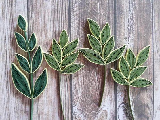quilling leaves quilling pinterest paperolles et feuilles. Black Bedroom Furniture Sets. Home Design Ideas