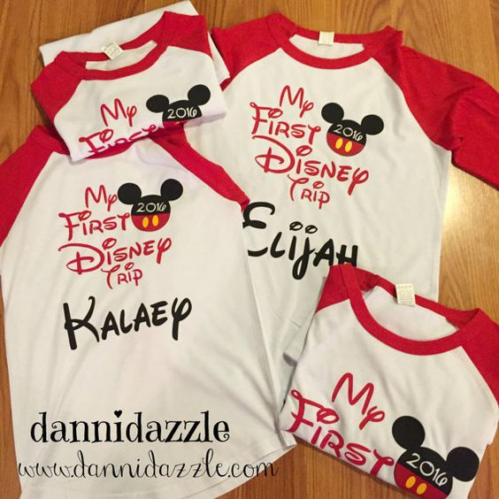 My First Disney Trip Family Shirts/Disney Family by DanniDazzle