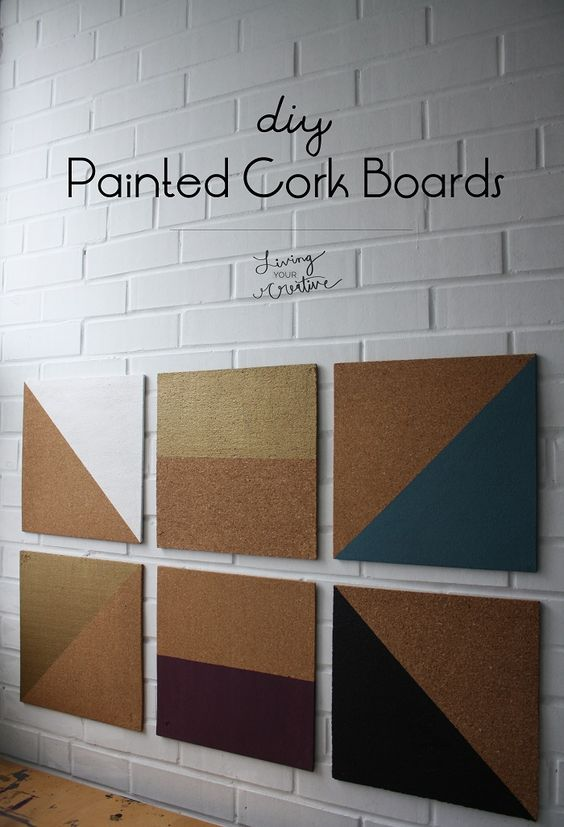 Organize in style with these #DIY Painted Cork Boards from Living YOUR Creative!