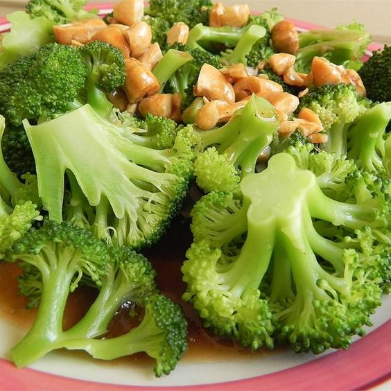 "Broccoli with Garlic Butter and Cashews | ""This is an awesome broccoli ..."
