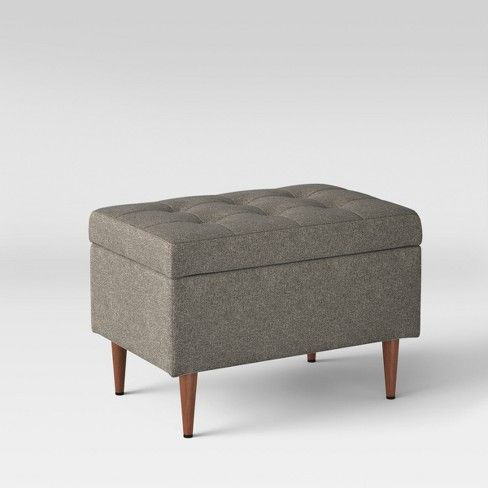 Elegantly Modern The Lemoor Mid Century Ottoman With Storage From