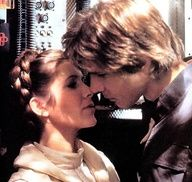 Star Wars - Han and Leia first kiss: