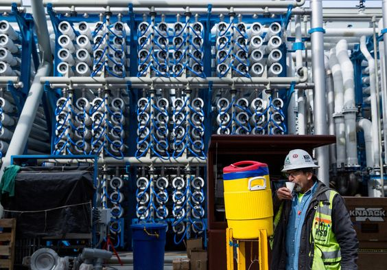 To ease its drought woes, a major California metropolis is on the verge of turning the Pacific Ocean into an everyday source of drinking water with a $1 billion desalination plant.