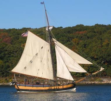 """Rhode Island designated the replica of the Continental sailing vessel """"Providence"""" as the state flagship and tall ship ambassador in 1992. The original Continental (12-gun) sloop Providence was commanded by John Paul Jones during the American Revolutionary War ."""