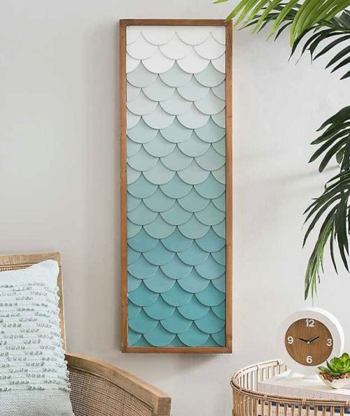 Fish Scale Wall Art Inspired By The Sea With Images Diy Wall