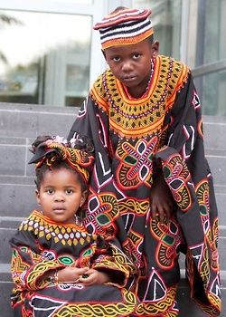 #Cameroon children in traditional dress. Lovely patterns! || #LittlePassports #Africa for #Kids:
