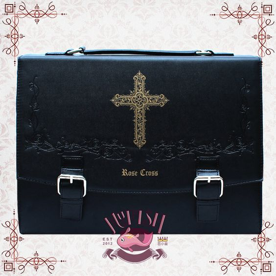 MuFish -Rose Cross- Lolita Handbag Cross Body Bag Backpack