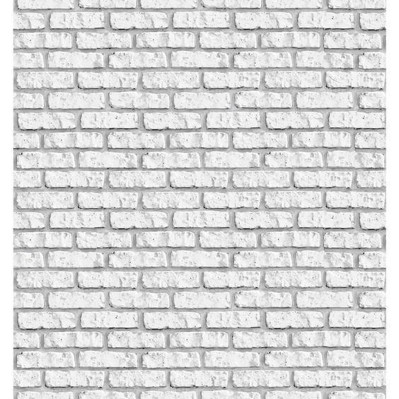 Papel de parede tijolo branco Meu quarto Pinterest  ~ Quarto Tijolo Branco