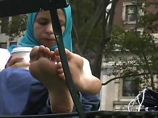 And have arab hijab feet and soles all