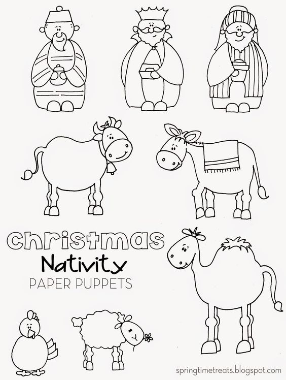 Spring Time Treats Christmas Nativity Printable