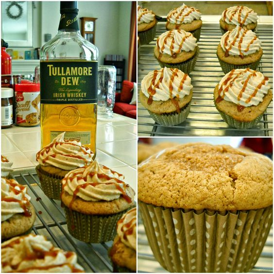Bake It With Booze!: Irish Chai Latte Cupcakes {with Tullamore D.E.W.}
