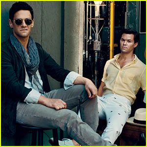 Andrew Rannells and Justin Bartha in 'New Normal' 'Vogue' feature.