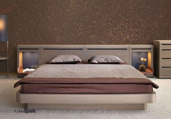 CeboSpark. Glitter sulle pareti della camera da letto. per una finitura scintillante.